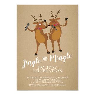 Jingle u. vermischen Sie Ren-Feiertags-Party Karte