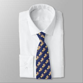 Jitaku Löwe-Tanz-Blau-Krawatte Individuelle Krawatten