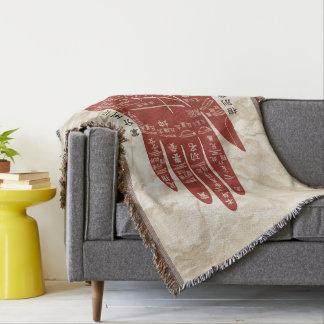 Jitaku Palmen-Lesung geknitterte Decke