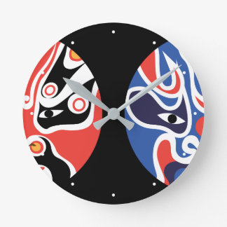 Jitaku zwei Gesichtsmaske-Uhr Runde Wanduhr