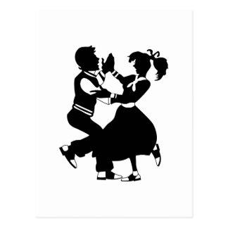 Jitterbug Silhouette Postkarte