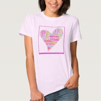 Jiu-Jitsu Liebe-Wortwolke durch T Shirt