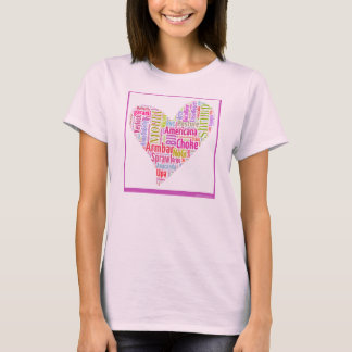 Jiu-Jitsu Liebe-Wortwolke durch T-Shirt