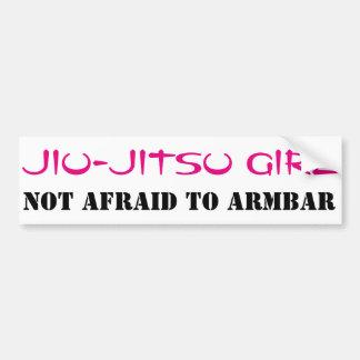 Jiu-Jitsu Mädchen nicht ängstlich zu ArmBar Autoaufkleber