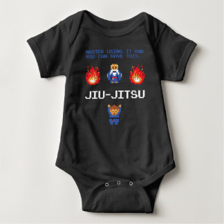 Jiu-Jitsu Vorlagenbaby-Strampler Baby Strampler