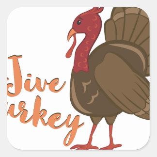 Jive die Türkei Quadratischer Aufkleber