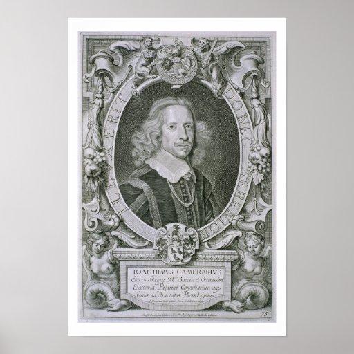 Joachim Camerarius, von 'Kranken Porträt-DES Homme Plakat