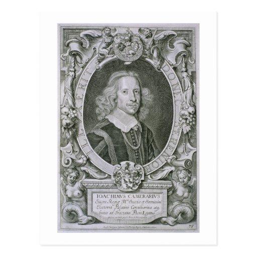 Joachim Camerarius, von 'Kranken Porträt-DES Homme Postkarte