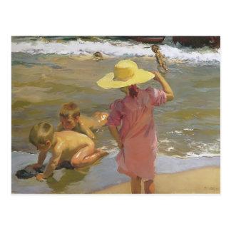 Joaquín Sorolla- Kinder auf der Küste Postkarten