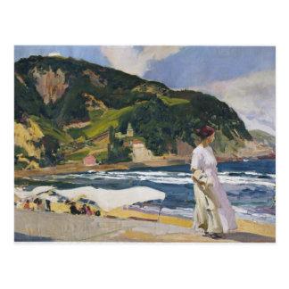Joaquín Sorolla- Maria auf dem Strand, Zarauz Postkarte