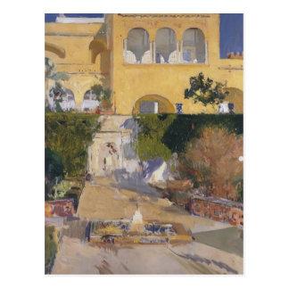 Joaquín Sorolla-Mittag Sonne beim Alcázar von Postkarte