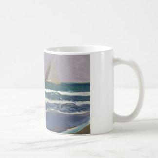 Joaquin Sorolla - Schiffs-Segel im Meer Kaffeetasse