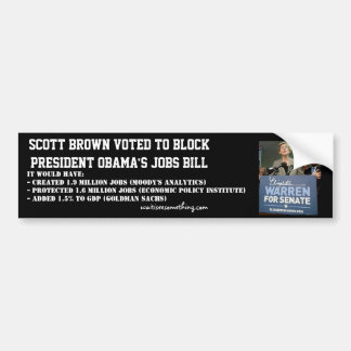 Jobtat Scotts Brown blockierten Obamas Autoaufkleber