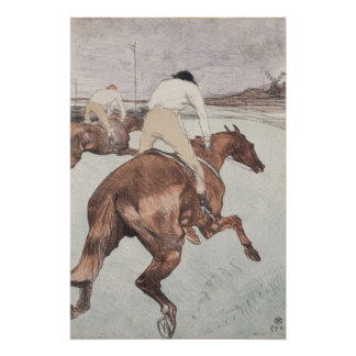 Jockey durch Henride Toulouse-Lautrec Poster