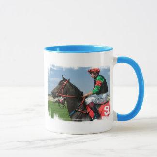 Jockey-und Pferdekaffee-Tasse Tasse
