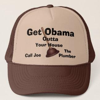 Joe der Klempner Kappe-Erhalten Obama Outta. Truckerkappe