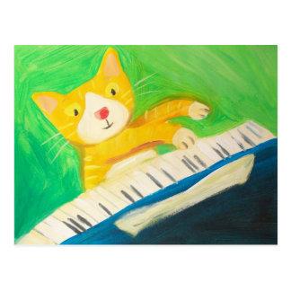 Joe die Pianistkatze Postkarte