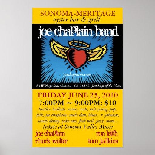 Joe-Geistlich-Band Meritage 2010 Plakatdruck