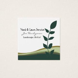 Joe-Heimwerker-Rasen-Yard-berufliche Quadratische Visitenkarte