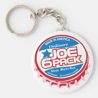 Joe sechs Satz Schlüsselanhänger