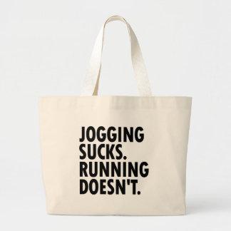 Joggen ist zum Kotzen. Das Laufen tut nicht. Jumbo Stoffbeutel