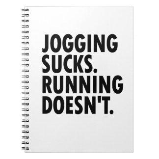 Joggen ist zum Kotzen. Das Laufen tut nicht. Notizblock