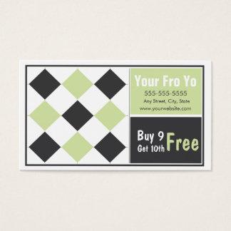 Jogurt-Kunden-Loyalitäts-Visitenkarte Visitenkarte