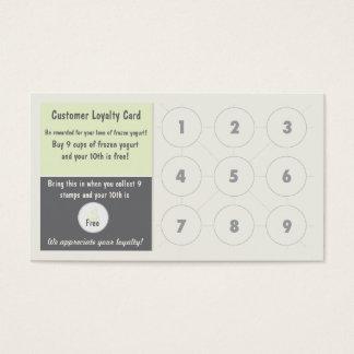Jogurt-Loyalitäts-Visitenkarte Visitenkarte