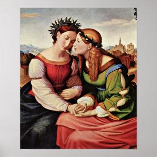 Johann Friedrich Overbeck - Italien und Germania Poster