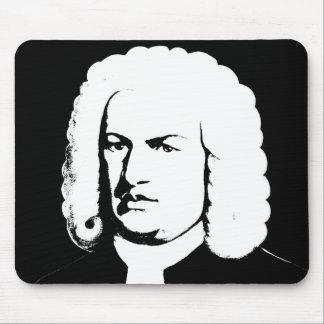 Johann Sebastian Bach abstrakt in Schwarz und weiß Mauspad