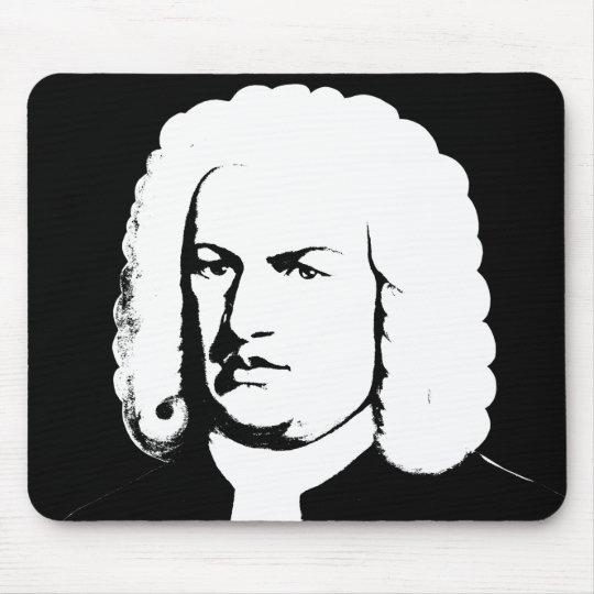 Johann Sebastian Bach abstrakt in Schwarz und weiß Mousepad
