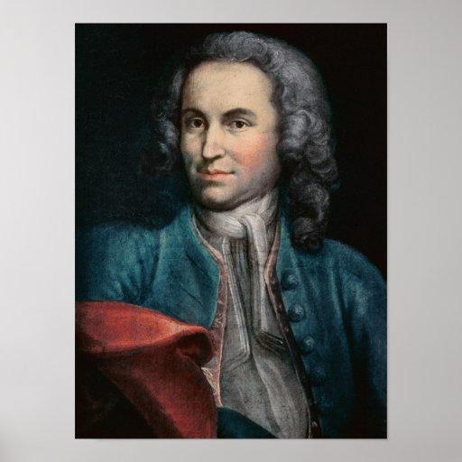 Johann Sebastian Bach c.1715 Plakatdruck