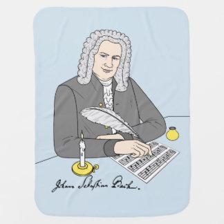 Johann Sebastian Bach gezeichnet Kinderwagendecke