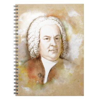 Johann Sebastian Bach Portrait in beige Spiral Notizblock