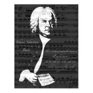 Johann Sebastian Bach Postkarte