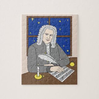 Johann Sebastian Bach Puzzle für Kinder