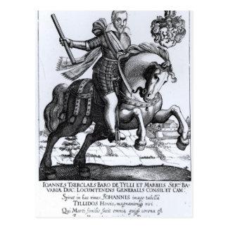 Johann Tserclaes, Graf von Tilly Postkarte