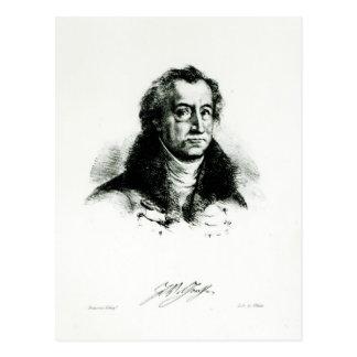 Johann Wolfgang Goethe graviert durch Delacroix Postkarte