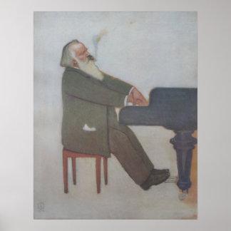 Johannes Brahms Posterdruck