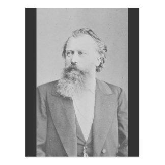 Johannes Brahms Postkarte
