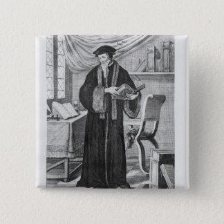 Johannes Calvin Quadratischer Button 5,1 Cm