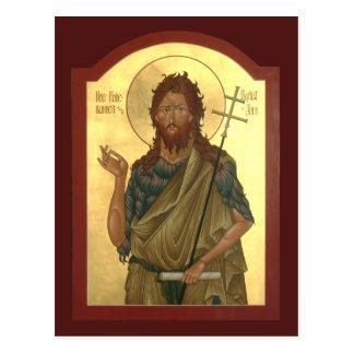 Johannes das Vorläufer-und Baptist-Gebet kardieren Postkarte
