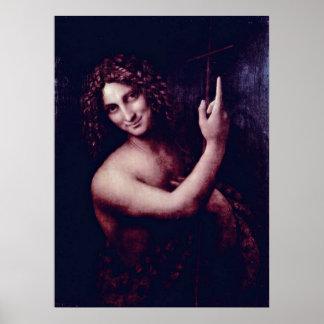Johannes der Baptist durch Leonardo da Vinci Poster