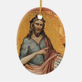 Johannes der Baptist Keramik Ornament