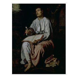 Johannes der Evangelist auf der Insel von Postkarte