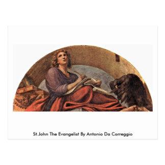 Johannes der Evangelist durch Antonio DA Correggio Postkarte
