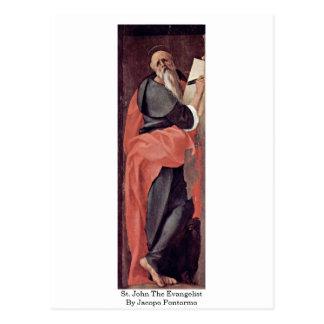 Johannes der Evangelist durch Jacopo Pontormo Postkarte