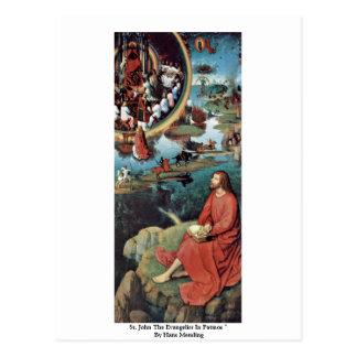 Johannes der Evangelist in Patmos durch Hans Postkarte