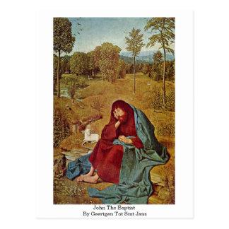 Johannes der Täufer durch Geertgen tot Sint Jans Postkarte