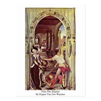 Johannes der Täufer durch Rogier van der Weyden Postkarte